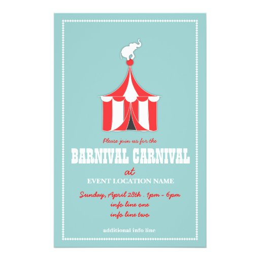 custom carnival event flyer zazzle