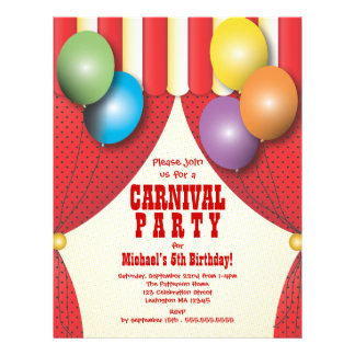 CUSTOM - Carnival Party Circus Tent Bigtop | Red Letterhead