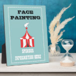"""CUSTOM Carnival Table Signs Plaque<br><div class=""""desc"""">Activity and sponsor info lines both customizable.</div>"""