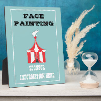 CUSTOM Carnival Table Signs Plaque