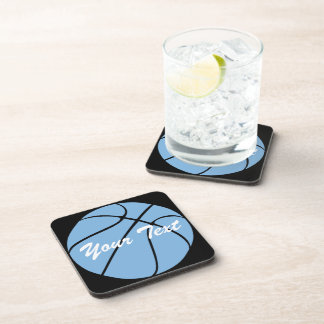 Custom Carolina Blue Basketball Gear Drink Coaster