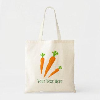 Custom carrot vegetable grocery shopping tote bag