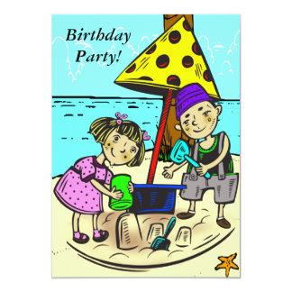 """Custom Cartoon Birthday Party Invitation 5"""" X 7"""" Invitation Card"""