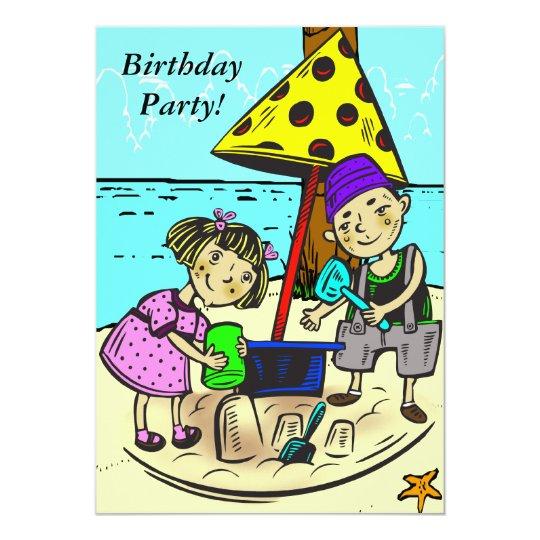 Custom Cartoon Birthday Party Invitation