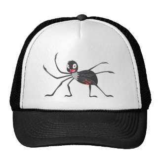 Custom Cartoon Black Widow Spider Shirt Trucker Hat