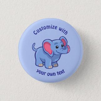 Custom Cartoon Elephant Button