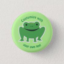 Custom Cartoon Frog Pinback Button