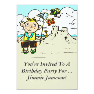 "Custom Cartoon Kids Birthday Party Invitation 5"" X 7"" Invitation Card"