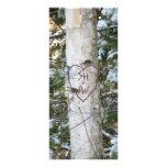 Custom Carved Birch Tree Bookmark Custom Rack Card