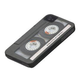 Custom Cassette Mixtape iPhone 4 Case-Mate Case