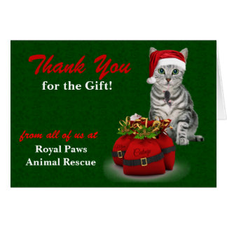 Custom Cat and Mouse Holiday Thank You Cards