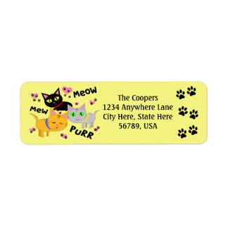 Custom Cat Art Return Address Labels