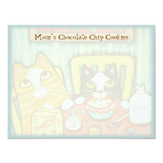 Custom Cat Friends Recipe Card Template