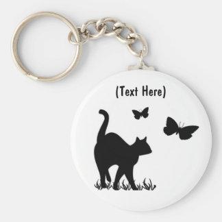 Custom Cat Keycahin Basic Round Button Keychain