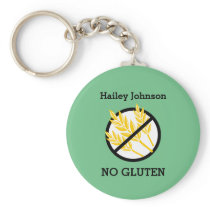 Custom Celiac or Wheat Allergy Personalized Kids Keychain