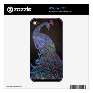 Custom Cell Phone Skins - Proud Peacock iPhone 4S Decals