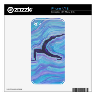 Custom Cell Phone Skins - Yoga Energy Decal For iPhone 4