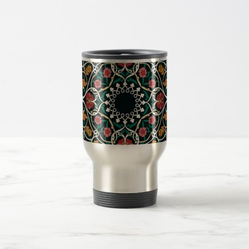 Custom Celtic Knot Abstract Design Travel Mug