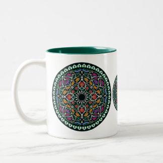 Custom Celtic Knot Abstract Design Two-Tone Coffee Mug