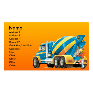 Custom Cement or Concrete Mixer Construction Business Card