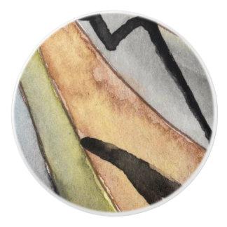 Custom Ceramic Knob w/southwestern design xl