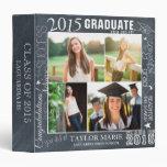 Custom Chalk Graduation 2015 Photo Scrapbook Vinyl Binders