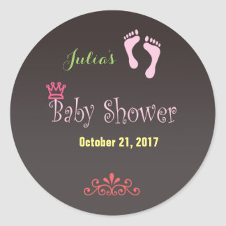 Custom Chalkboard Baby Shower Sticker Tags