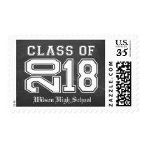 Custom Chalkboard Class of 2018 Graduation Postage