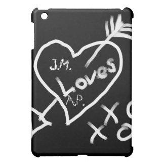 Custom Chalkboard Heart iPad Mini Cases