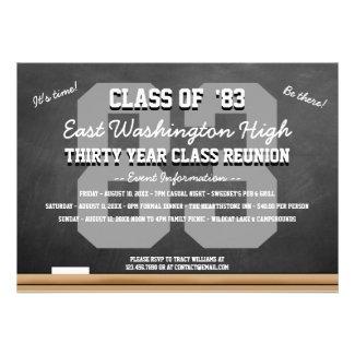 Custom Chalkboard High School Reunion Custom Announcement