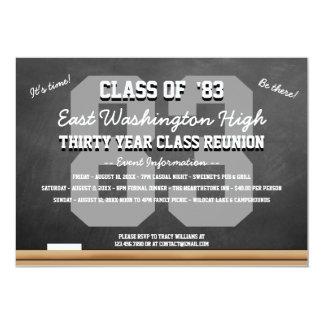 Custom Chalkboard High School Reunion 5x7 Paper Invitation Card