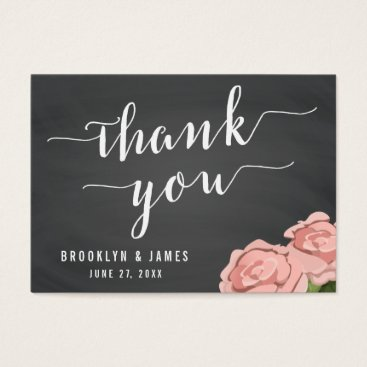 Professional Business Custom Chalkboard Wedding Favor Tags With Flowers