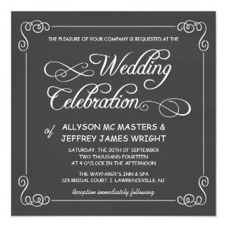 Custom Chalkboard Wedding Invitations