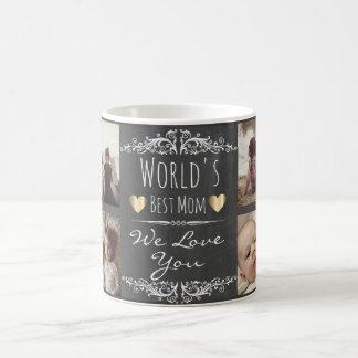 Custom chalked photo with text coffee mug