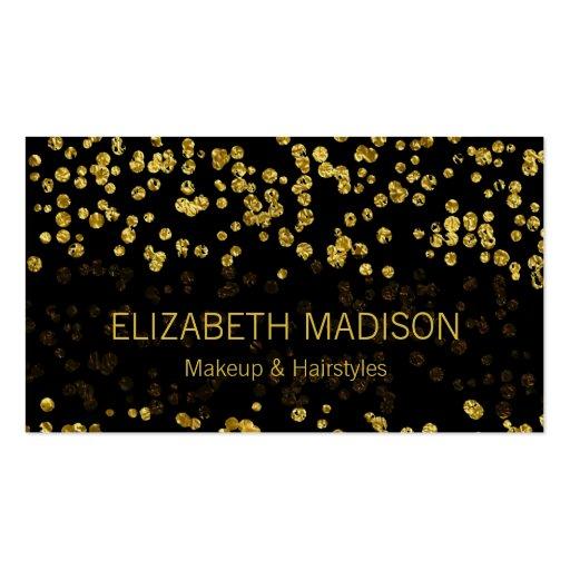 Custom Champagne Confetti Business Card