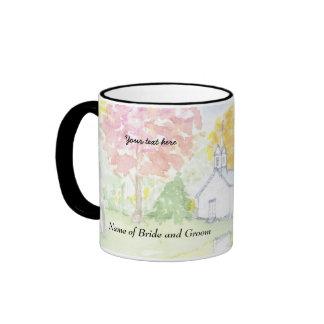 Custom chapel wedding souvenir gift mug