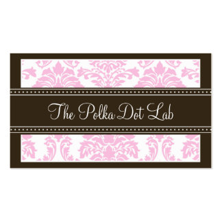 :custom: Charming Damask Business Card (pink)