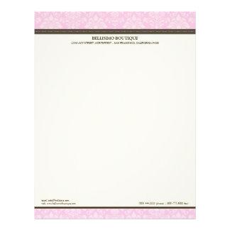 :custom: Charming Damask Pink/Chocolate Letterhead