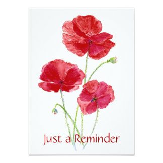 Custom - Check up Reminder - Dentist- Poppies Card