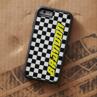 Custom checkered flag auto racing iPhone 6 case