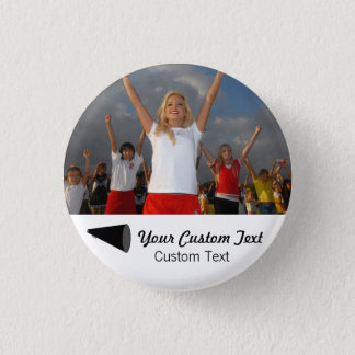 Custom Cheerleading Photo Team Spirit Button