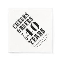 Custom Cheers & Beers Milestone Birthday Napkin