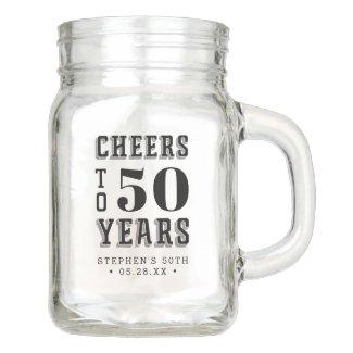 Custom Cheers Milestone Birthday Mason Jar