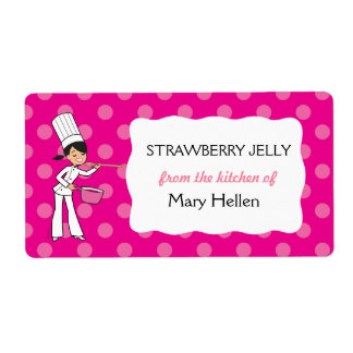 """Custom Chef Adhesive Label """"From the Kitchen"""" Shipping Label"""