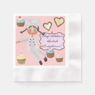 Custom Chef Baking Party Disposable Paper Napkins Coined Cocktail Napkin