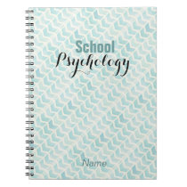 Custom Chevron Pattern School Psychology Notebook