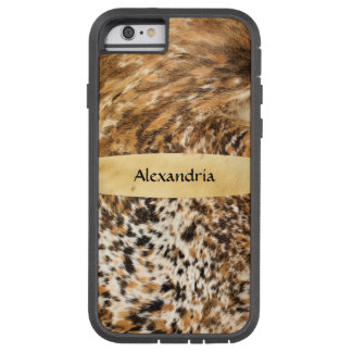 Custom Chic Country Western Animal Fur Prints Tough Xtreme iPhone 6 Case