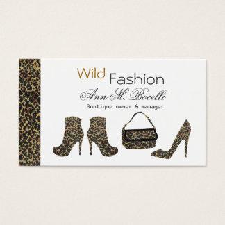Custom Chic Lady Fashion Stilettos Shoes Purse Business Card