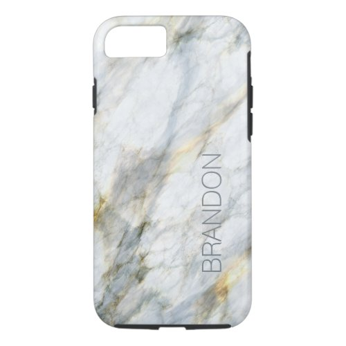 Custom Chic Trendy Marble Stone Texture Pattern Phone Case