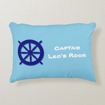 Beach Themed Custom Children's Bedroom Blue Nautical Decorative Pillow